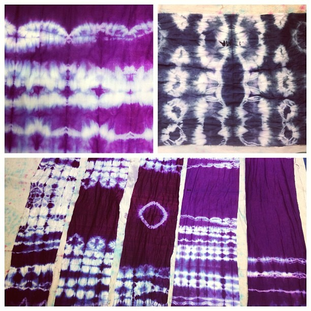 #ancient #art of #binding / #resisting from #Japan #results of student work from #spring #Shibori #workshop #@ #Segundo