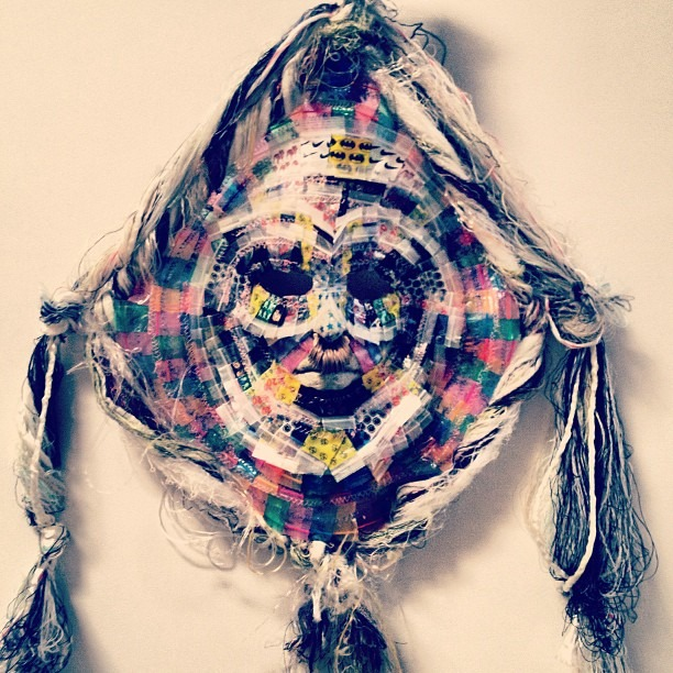 #mask made of #weed #dimebags #ajfosik #guerrerogallery #backroom