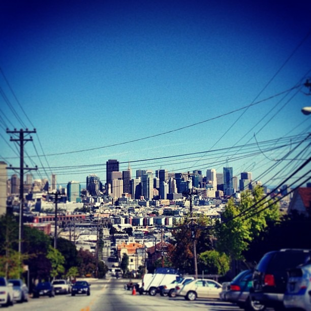 #blessed w #amazing #beautiful #views in the #yay #potrerohill #morningwalk #skyhigh #family #spring #getaway #beauty #skyline #skyscrappers (at Just For You Cafe)