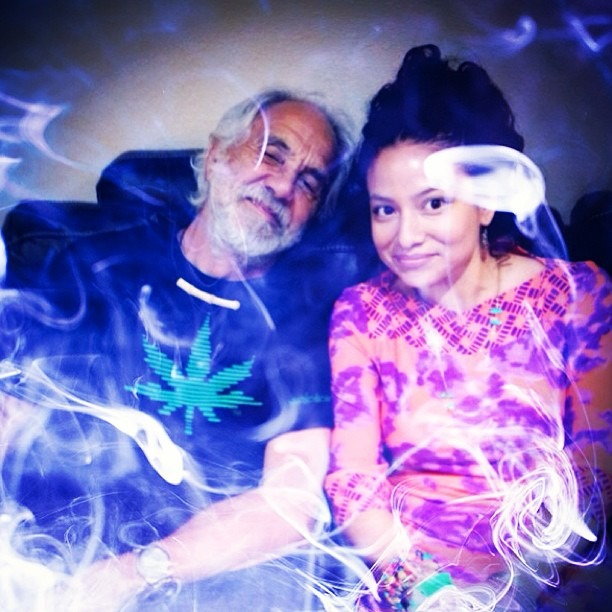 #chilling #backstage with #master #chief #420 #royalty #Chong #beautiful #psychedelic #smoke #cheechandchongingitup #super #hightimes #cheechrhymeswithpeach #chongrhymeswithbong (at Socorro Entertainment Center)