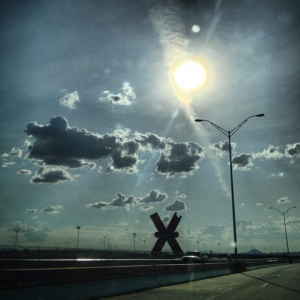 #LaEquis or #TheX in #CiudadJuarez on the #sunny #borderhighway with #100+ out there