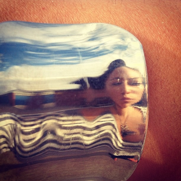 #summer #heatwave #melting my #thoughts #desertsun #reflection #silver #energy #flow