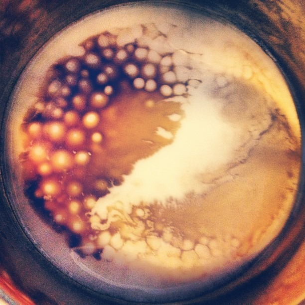 #beautiful #bubbles #formation #brazilian #coffee #love er #cafe con #leche d #almendras #instagood