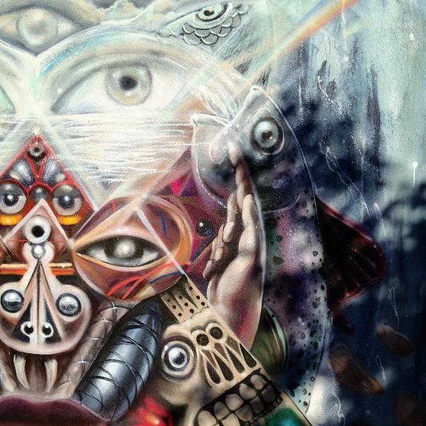#brahma's #breath by @wercalvarez #graffiti #life #love #transformation #new #ancient #knowledge #occult #apocalypse
