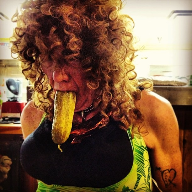 #found a #performance #artist @ our #local #chichis #joint #photooftheday #happy #halloween #pickle