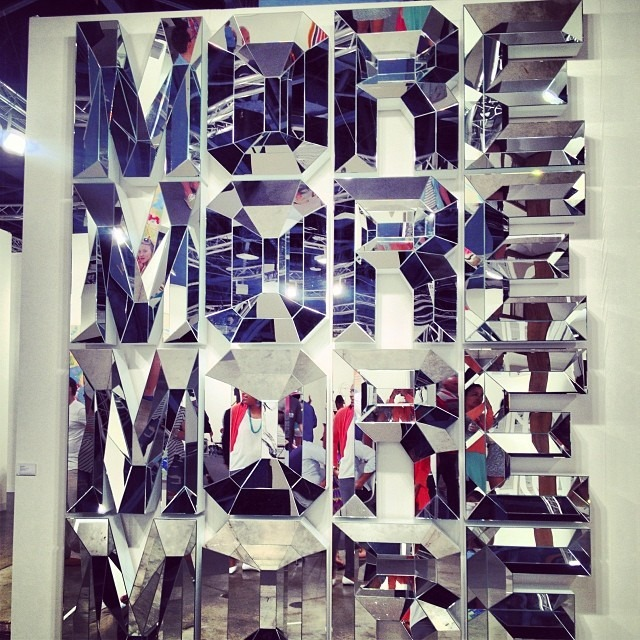 #mirrors for days #artbasel #galleries #love their #reflections #more plis #miamiartbasel2013