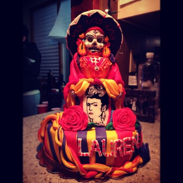 #beautiful #amazing #dayofthedead #birthday #transformation #cake #party #artfriends #reunion #love