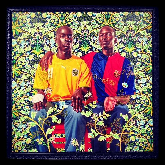 #kehindewiley #latest of #miamiartbasel #SFAI #love #represent #decorative #regal #contemporary #painting #