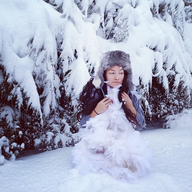 #winter #wonderland #snow #queen #galadriel #love #ice #slush #life #potd #northeast #coasting @museemagazine