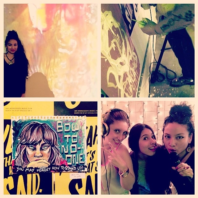 #yeahthatswhatshesaid #lastnight #craziness #1st #newyork #artshow #allfemale #love #wetagave #video #dildopainting @mmmensen drawing & @angelicamunozcastano @lauraxcastano borrowing the #djbooth