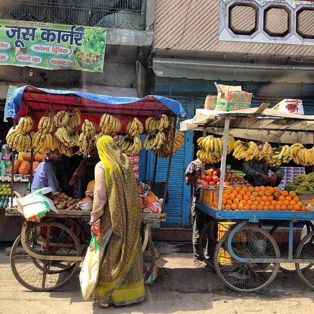 The #colors here need #nofilter #bananas #fruitstand #india #market #love