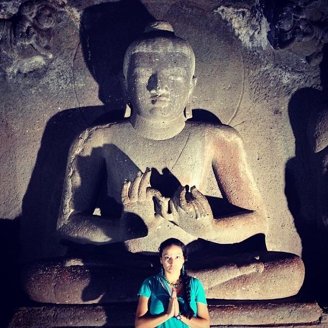 #agantacaves #india #buddha #200bc #carving #ancient #love #beautiful #travel #life