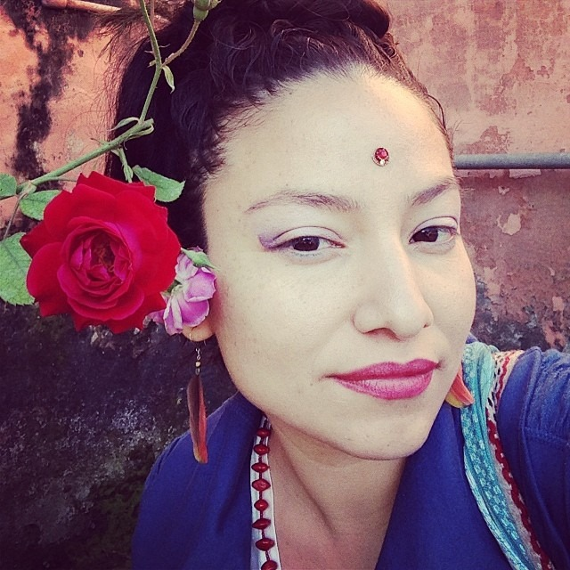 Found a #rose in the #jungle of #punjab #redrose #hindi #bindi and a #red #smile #india #love #photo of the #photographer