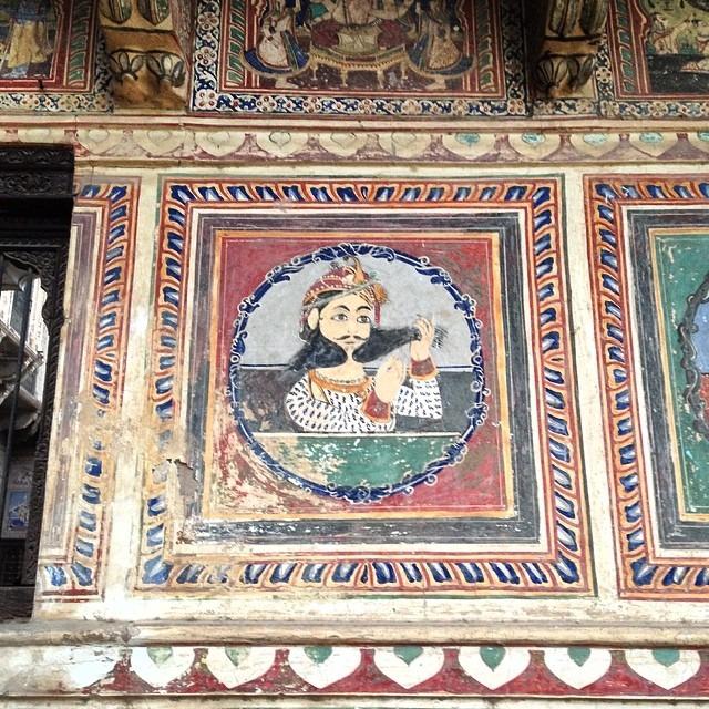 #16thc #silkroad #merchant #Bikaner #palace #mural #beard #hair #lover #Rajasthan #theoriginalhairhipster #ancientwall #nofilter