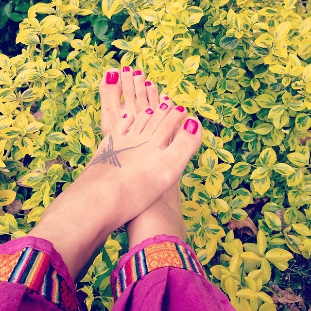 #feet #love #pedi after tons of #hiking abroad #feetfetish #foot #spring #sprung #toes