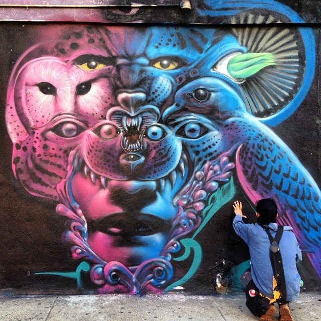 #brujo @w3rc #rocking in #Brooklyn #love #mystic #jungle in the #concretejungle #native #spiritanimals #selva #eleva