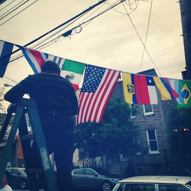 #summernight #bushwick #bk getting #ready for the #mundial #worldcup 2014