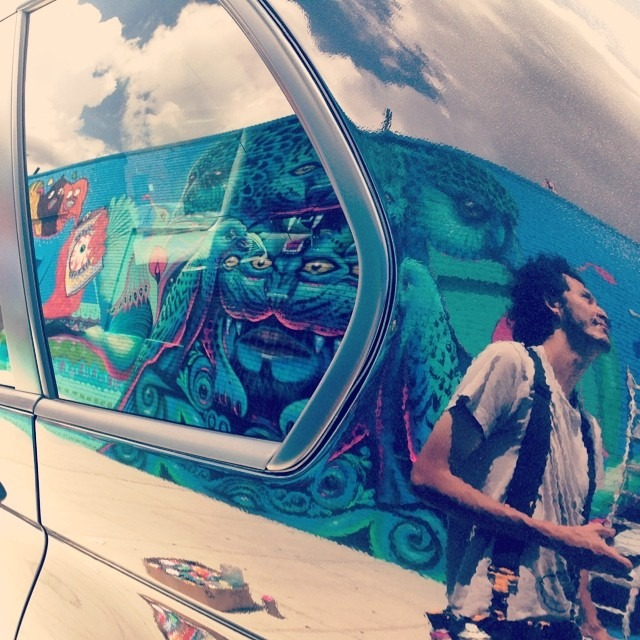 Mr @w3rc doing his thang @ #srb #brooklyn #ny #clouds #reflection #life #paint #shamanvision #flypussy #love