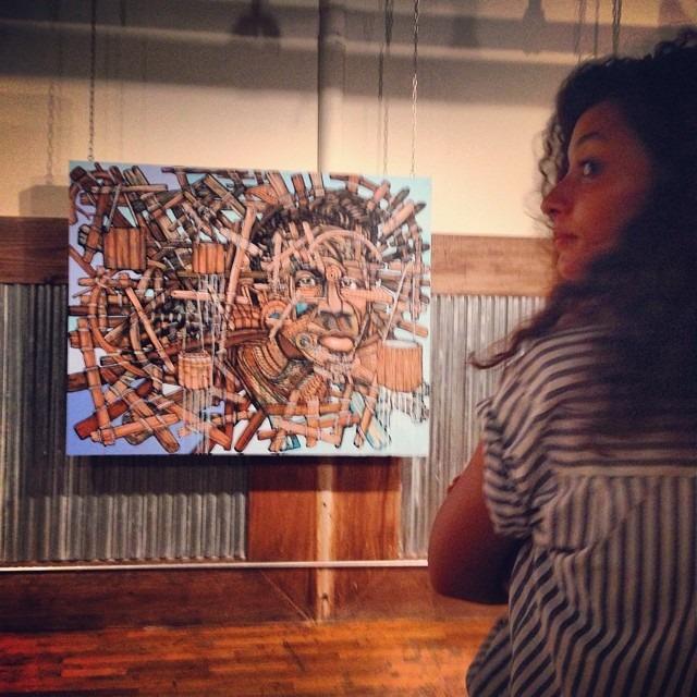 @donrimx #art lastnight #dumbo #brooklyn #waterislife #water rights #tr3spassgallery