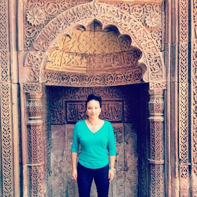 Wherever I go #always find my #niche #qutabminar #delhi #india #love #travel #life
