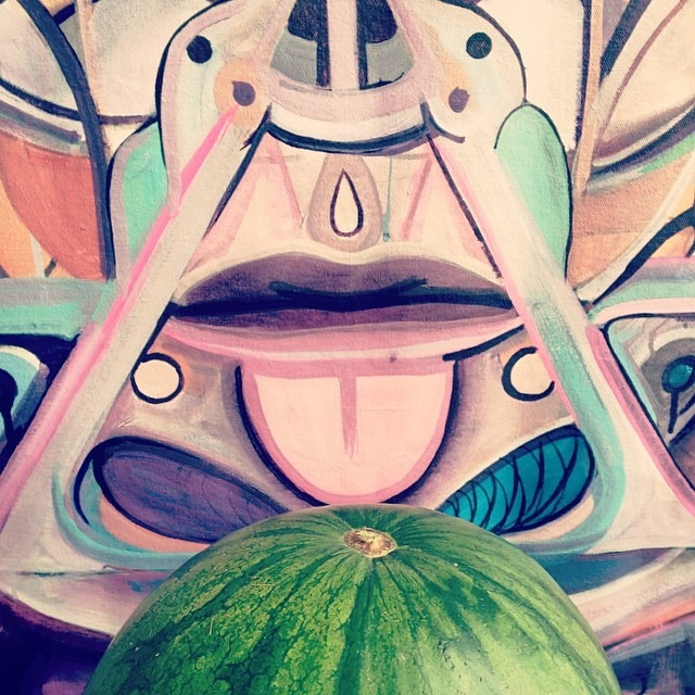 #studio #wall #hungry for some #alkaline #alchamist #watermelon @w3rc #artcrop