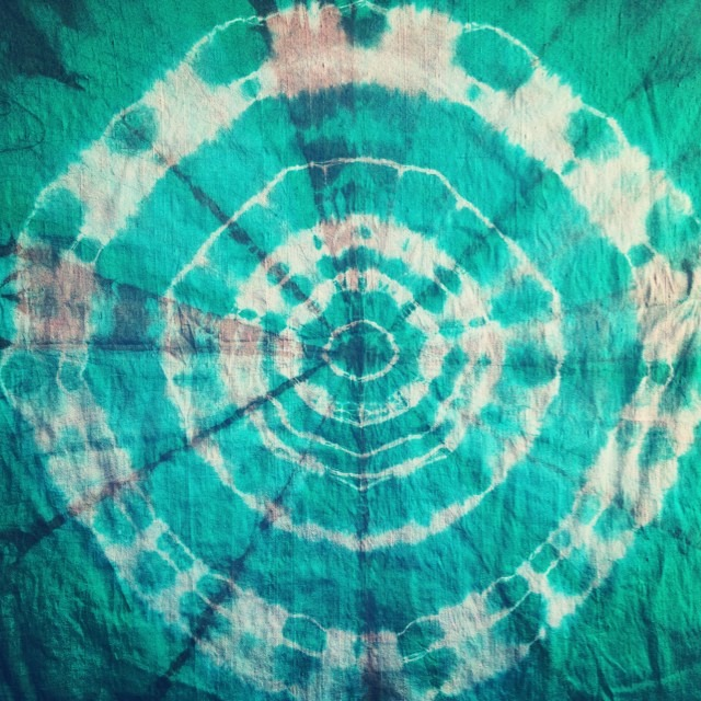 #undulation #sound #vibration on this #realm with #jade on #raw #silk #shibori #private #workshop #love #wheeloflife #ripple #wave of #consciousness #cycles