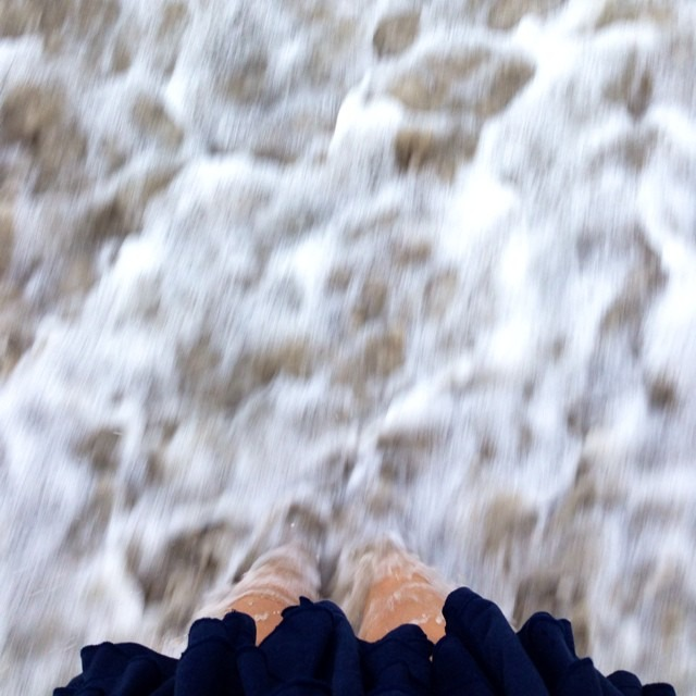 Oh #beach I took #toolong to c u so when I stepped in your #shore #lighting struck #sea #mar #love #latergram