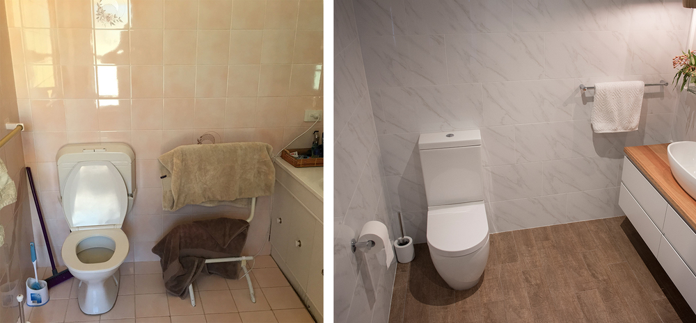 Never under-estimate the importance of a back to wall toilet!