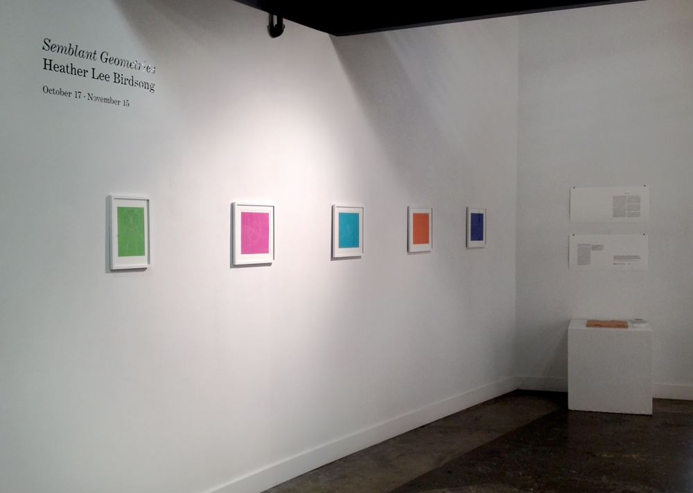 Semblant Geometries  installed at PNCA's Photo & Print Gallery, October 17 – November 15, 2014