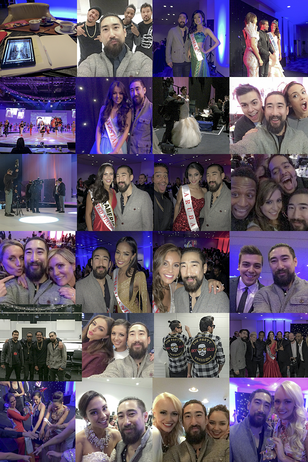 Too many photos to post . Too busy having fun to take photos . Congratualtions to MIss South Africa for the crown and all the other MIss's for a great competition