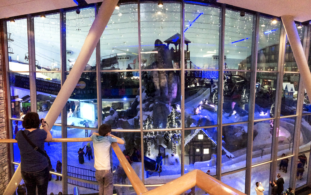 Yes this is a snowboarding/skiing room in the Eremites Mall . Interestingly enough , this is the 2nd biggest mall in the world . First being Dubai Mall , down the street .