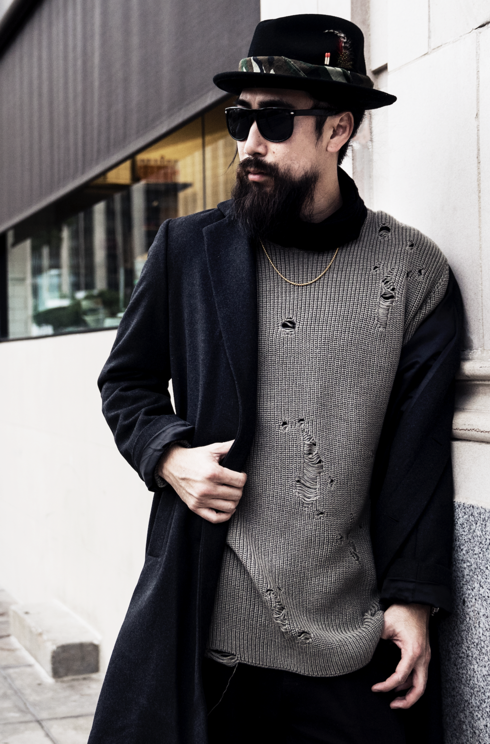justfeng men style fashion ootdmen asian epic beard