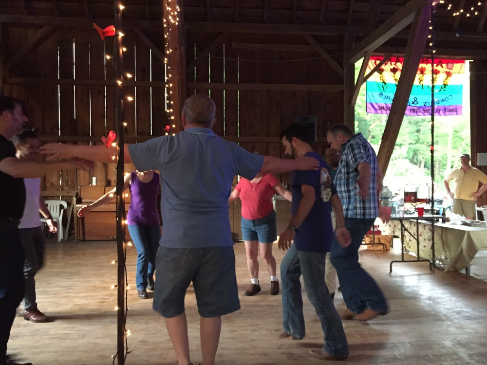 Dancing in the barn in Wonewoc! ...a REAL Barn dance!