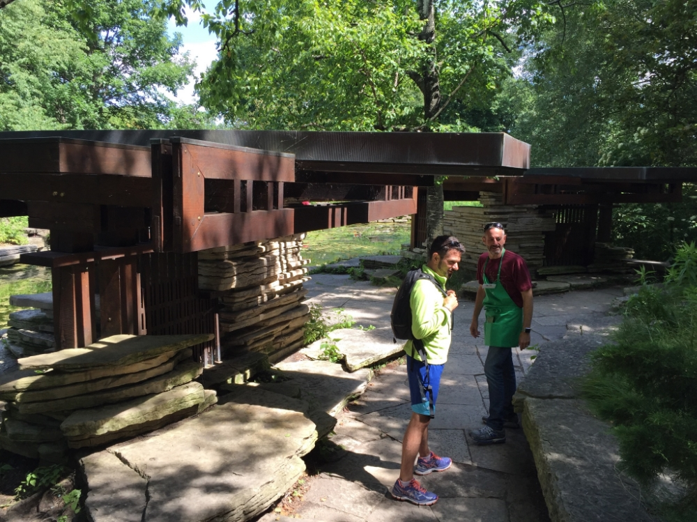 Exploring this little retreat structure designed by none other than Frank Lloyd Wright