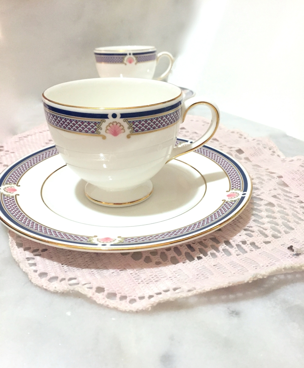 "Pouring this tea into a cute cup and saucer pair like this one will surely make the experience ""fine"" :)"