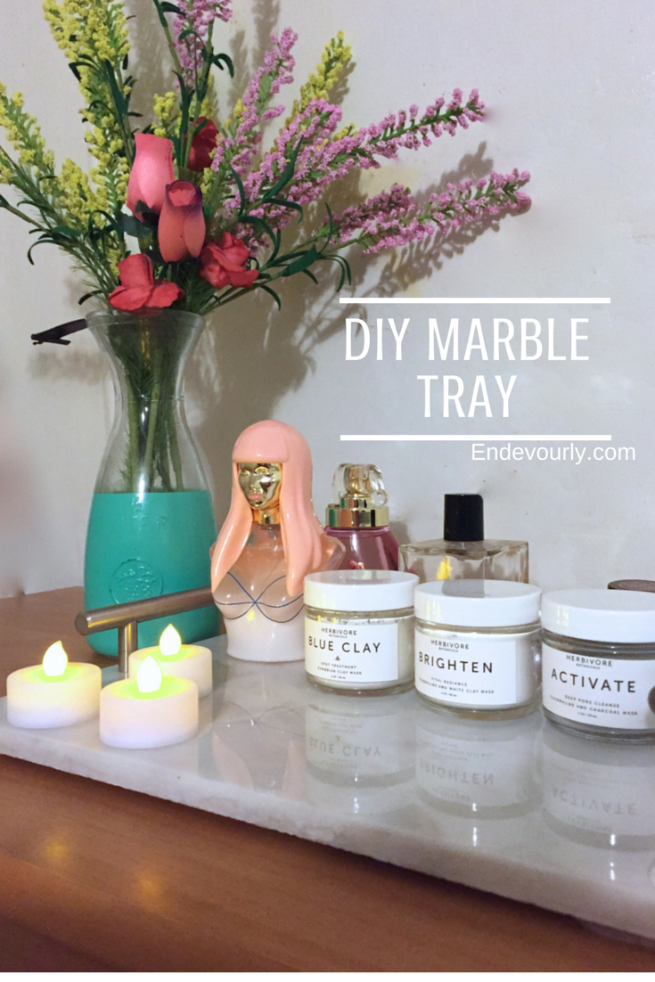 DIY Marble Tray Endevourly.com