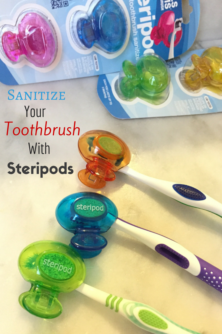 Steripods are useful for keeping your toothbrush sanitized