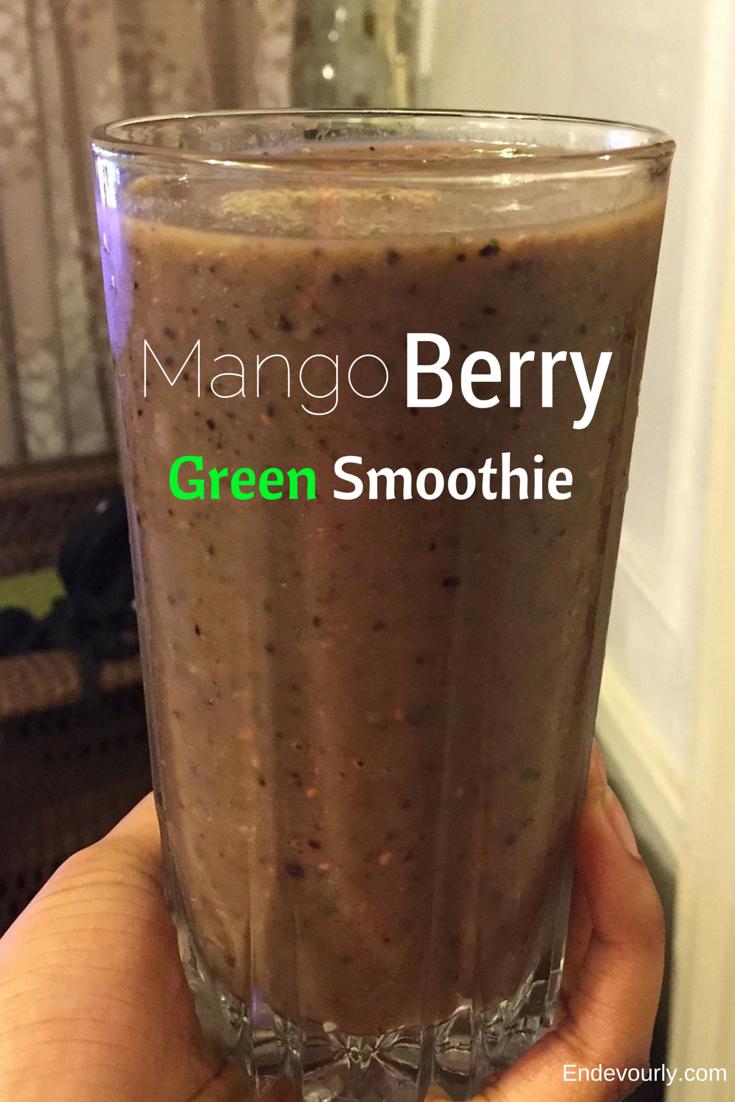 mango berry green smoothie