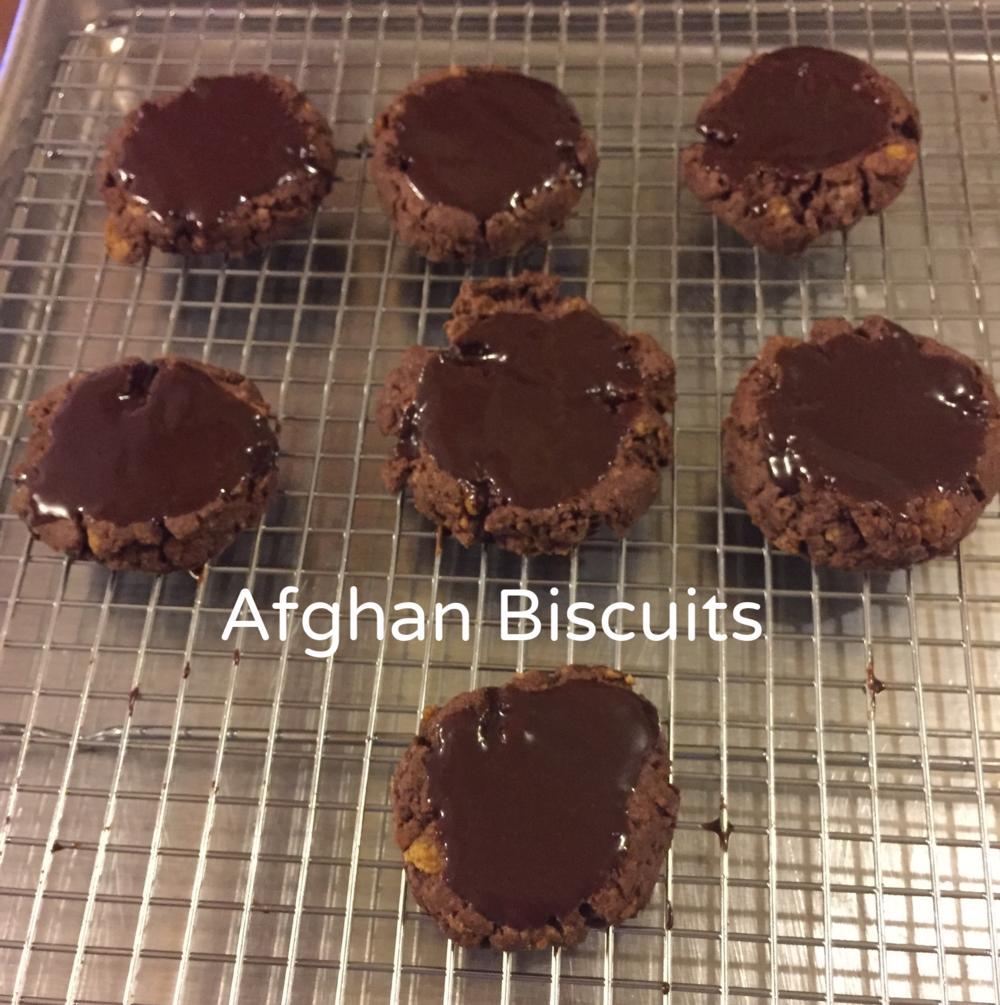 Afghan biscuit cookies