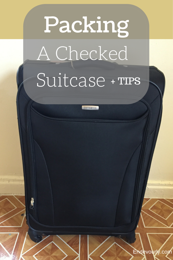 Tips for packing a checked suitcase