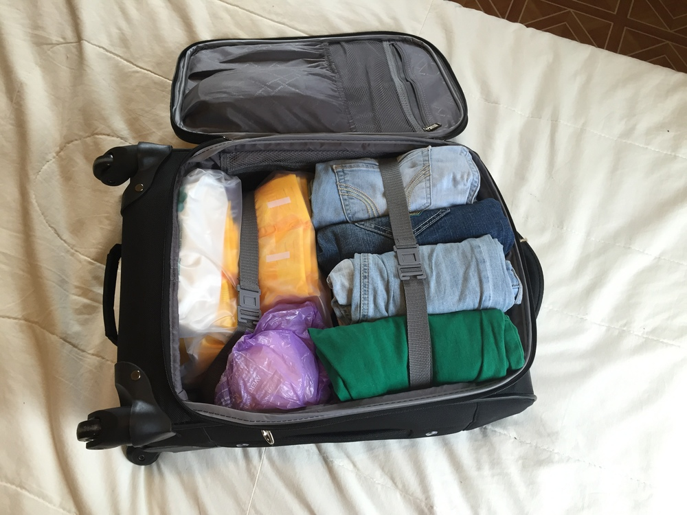 Pack everything into your carry on suitcase