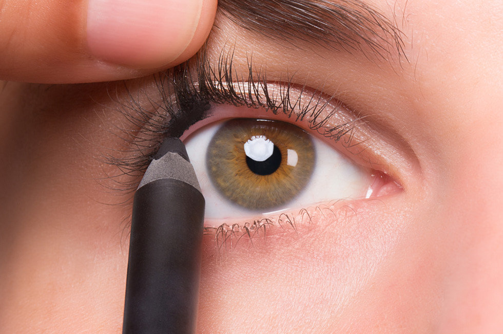 Apply eyeliner to your upper lashline to create the illusion of fuller lashes.
