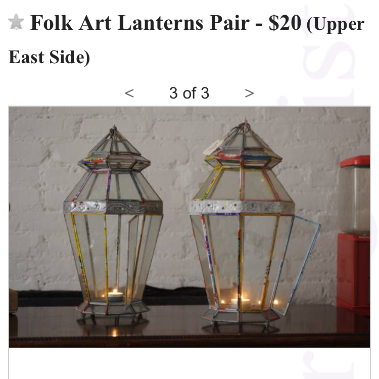 Craigslist Finds (Indian Lanterns)