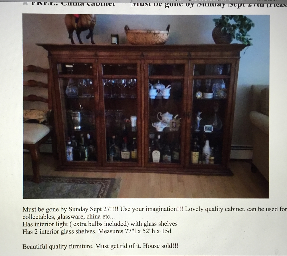 Craigslist Finds #1 (Vintage China Cabinet)