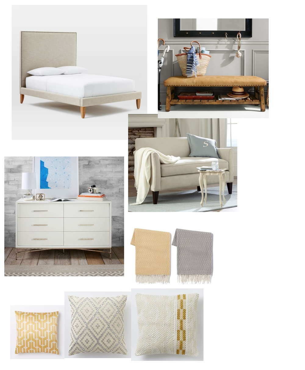 Chic Teenage Bedroom Mood Board