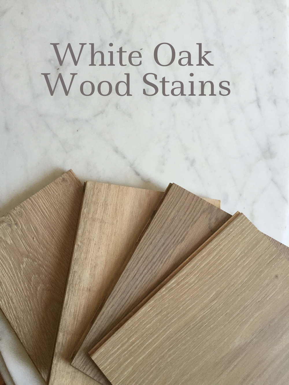 White Oak Wood Stain for Vintage French Chairs