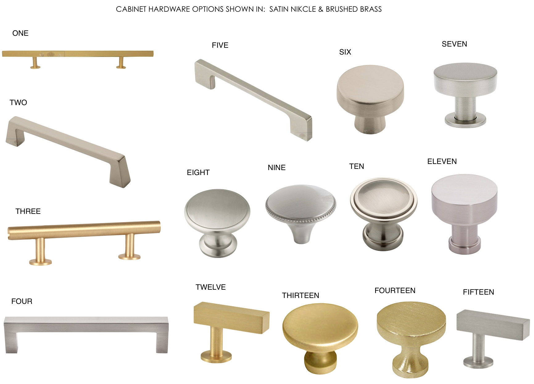 satin nickel and brushed brass cabinet hardware roundup