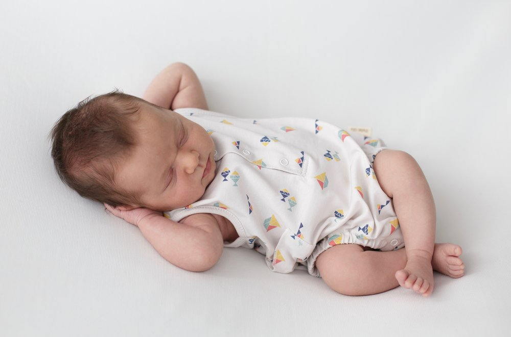 This boats romper is seriously a dream, super soft and comfortable for your baby. 100% Pima Cotton