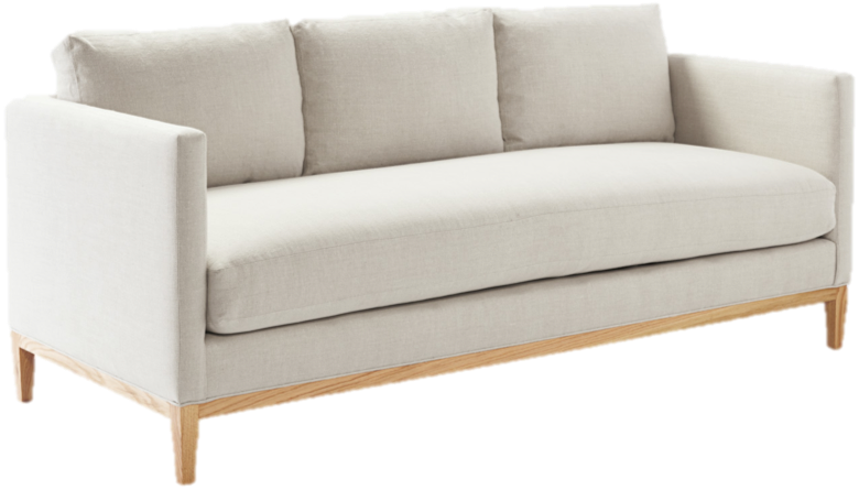 We're known to love sofas with single seat cushions and truthfully prefer them above all. We love this particular design for its classic and sophisticated silhouette. Best part? Serena and Lily offers it in so many different fabric options, we're sure you'll find the perfect color for you.