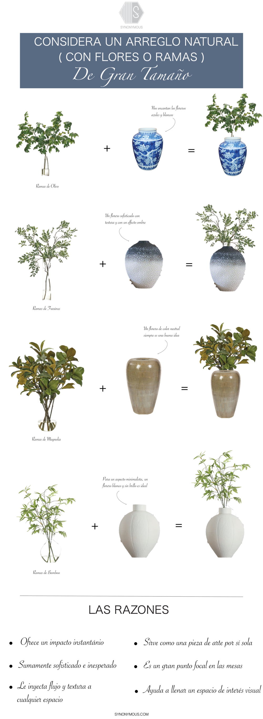 Design Diary: Oversized Vases and Flower Arrangements - SYNONYMOUS